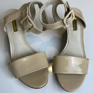 Louise et Cie Punya Wedge Leather Sandal 7.5 Wide